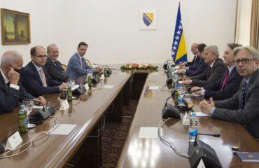 BiH: Schmidt met two of three BiH Presidency members