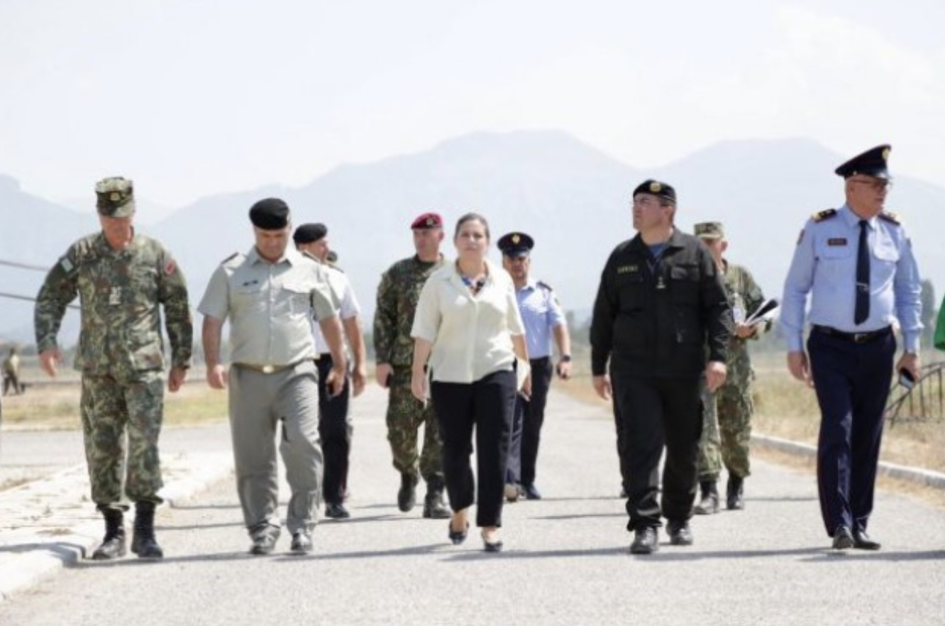 Albania: Xhaçka inspects the facilities that will temporary house the Afghan refugees