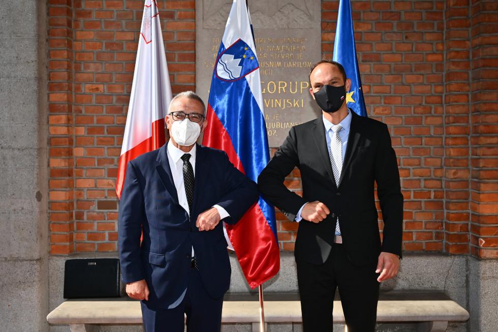 Slovenia: Logar thanked Bartolo for support for the MED7 membership