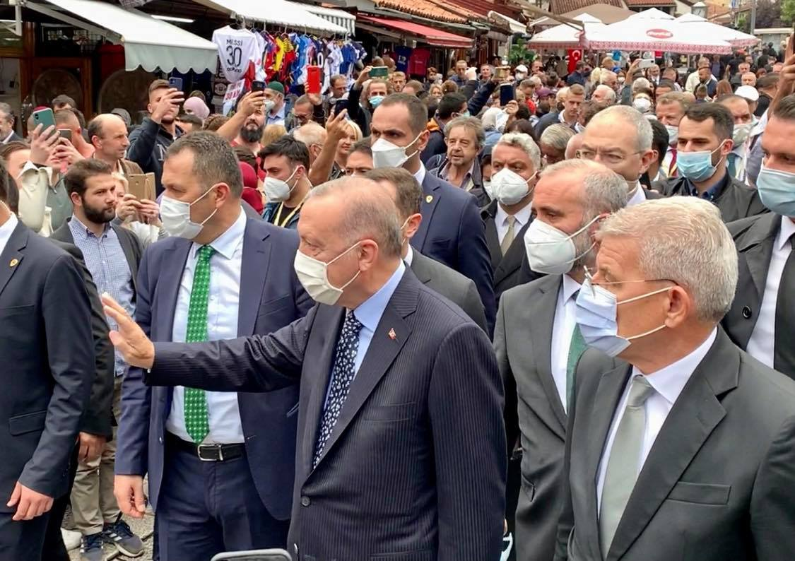 BiH: Erdogan at the wedding of Izetbegović's daughter and then at the meeting with the members of the Presidency