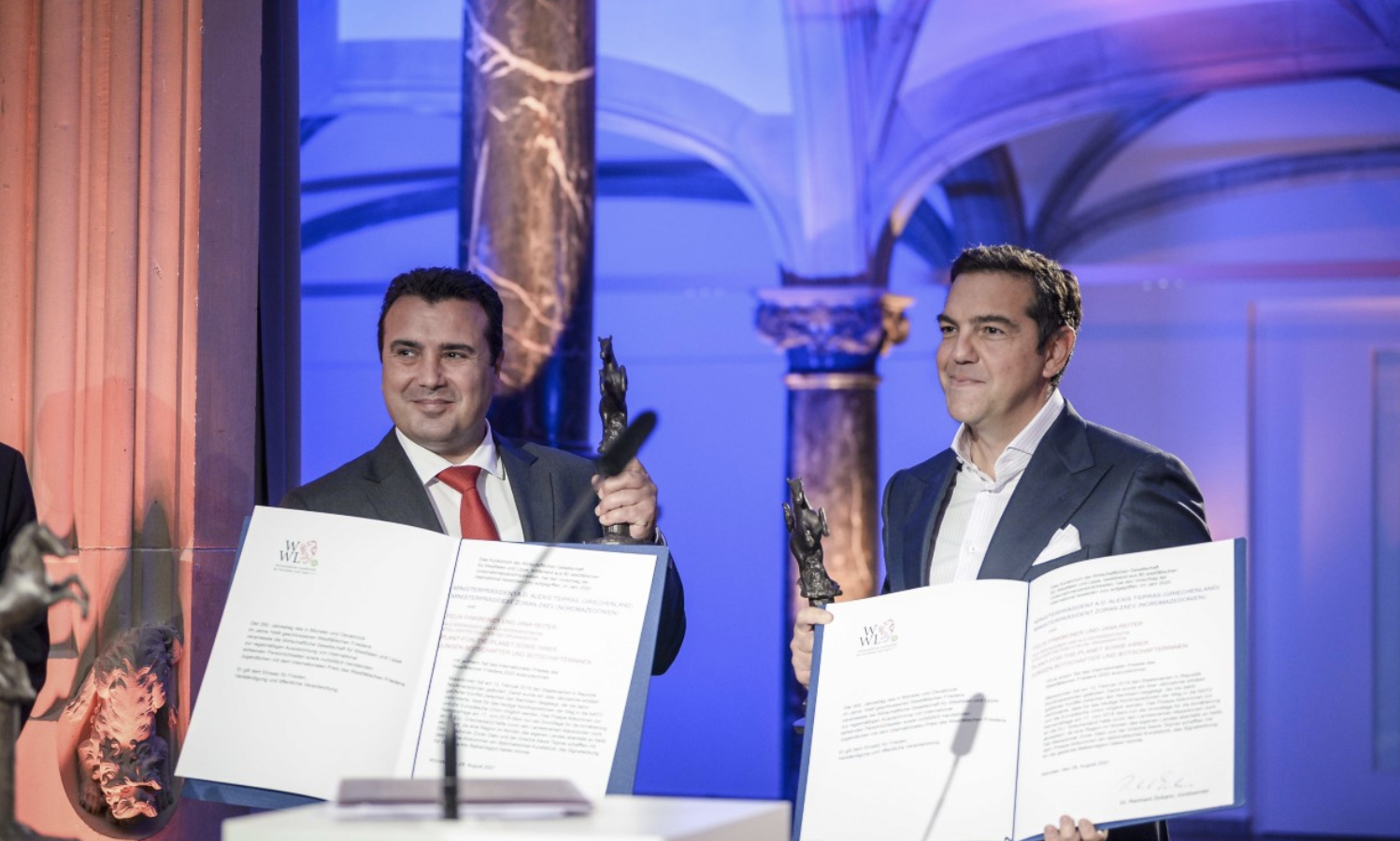 Zaev and Tsipras were awarded with the Peace Prize of Westphalia 2020