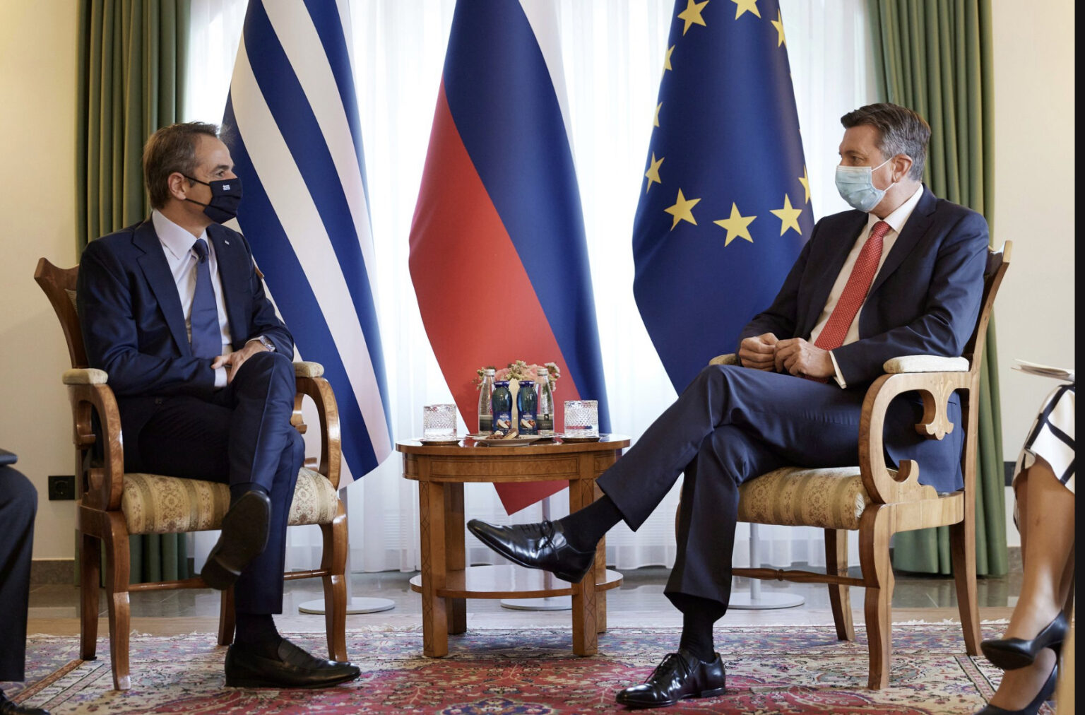 Greece: Mitsotakis met with Janša and Pahor