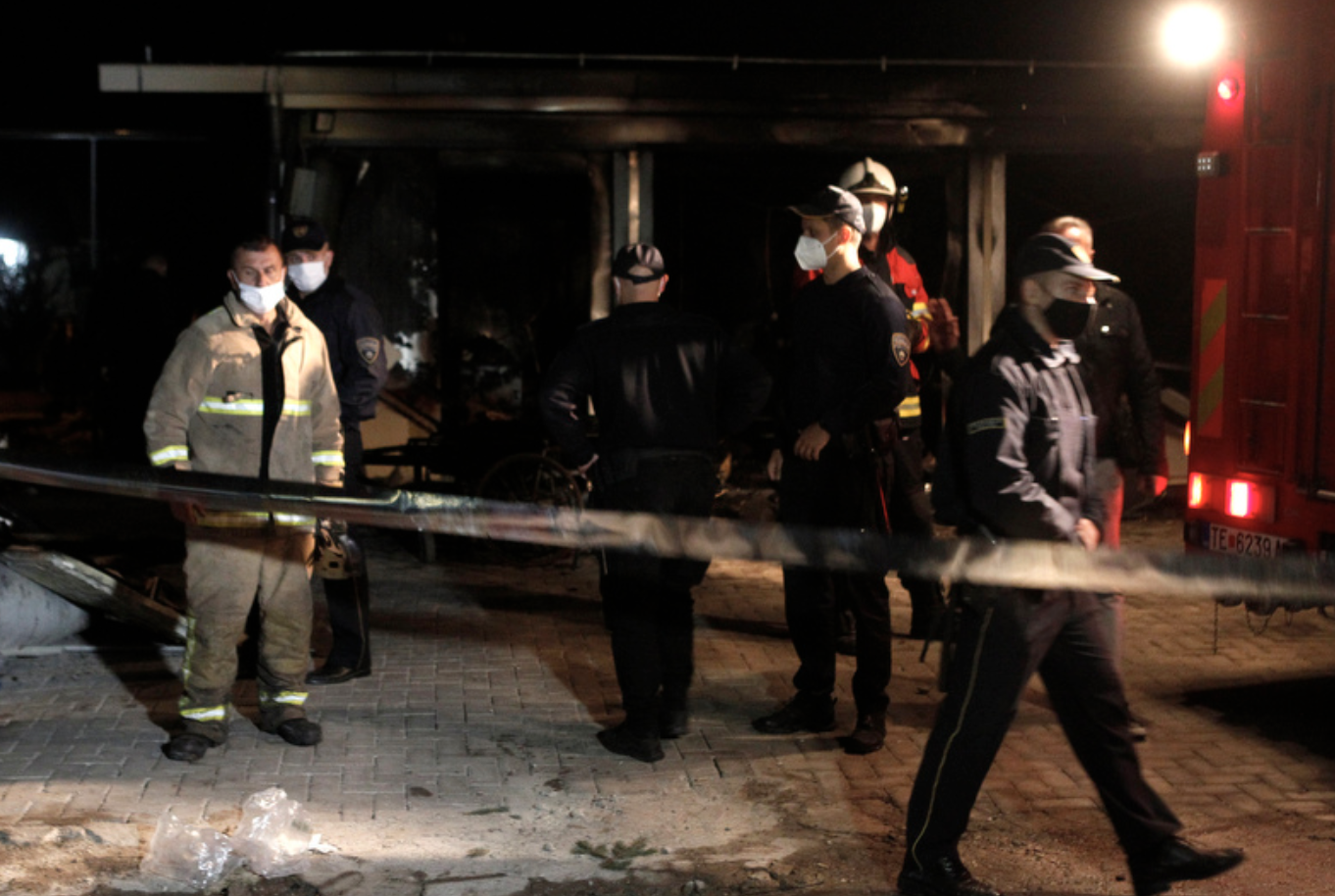 North Macedonia: Fourteen killed in fire at Covid hospital in Tetovo