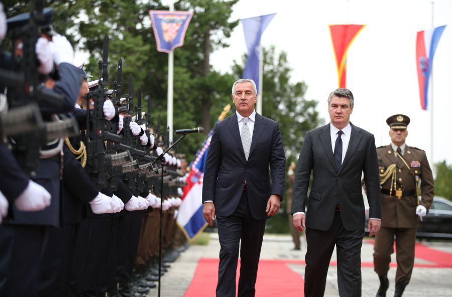Montenegro President Đukanović pays the official visit to Croatia