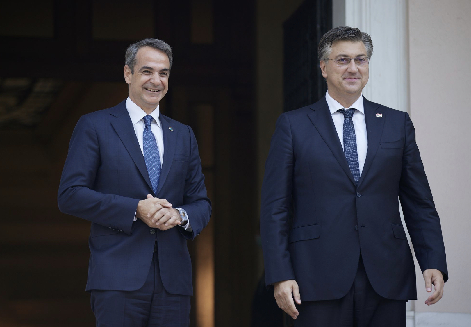 The Greek PM received the PM of Croatia in Athens