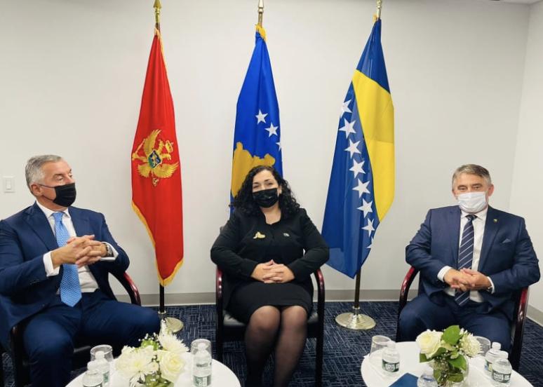 Osmani, Komšić and Đukanović expressed their concern about the region