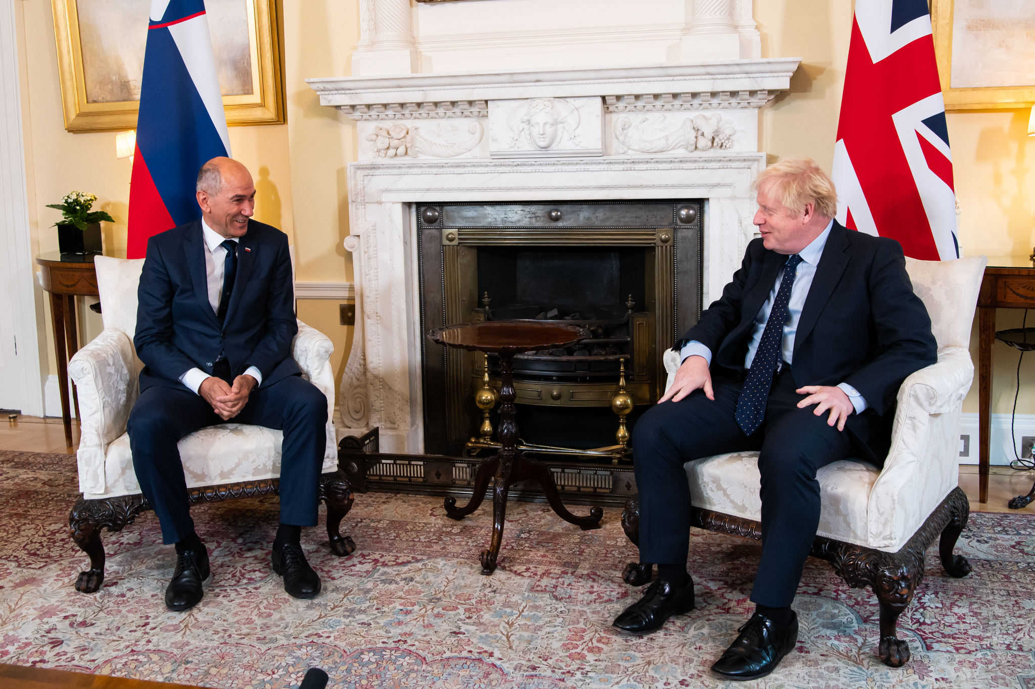 Slovenia: Janša met with Johnson in London to talk about relations between Slovenia and the EU with the UK