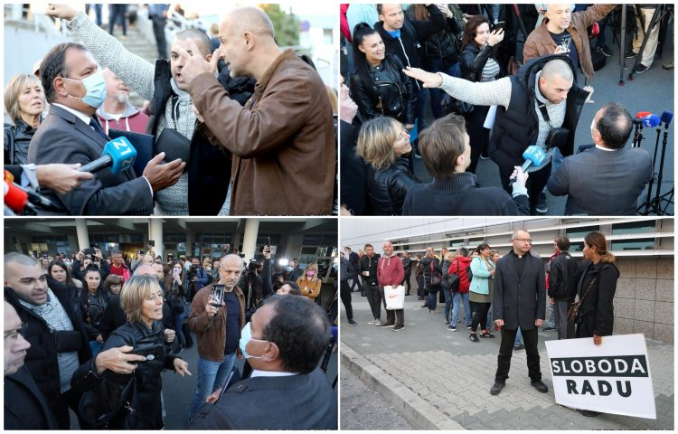 Croatia: A group of citizens waited for the Minister of Health in order to protest the new measures