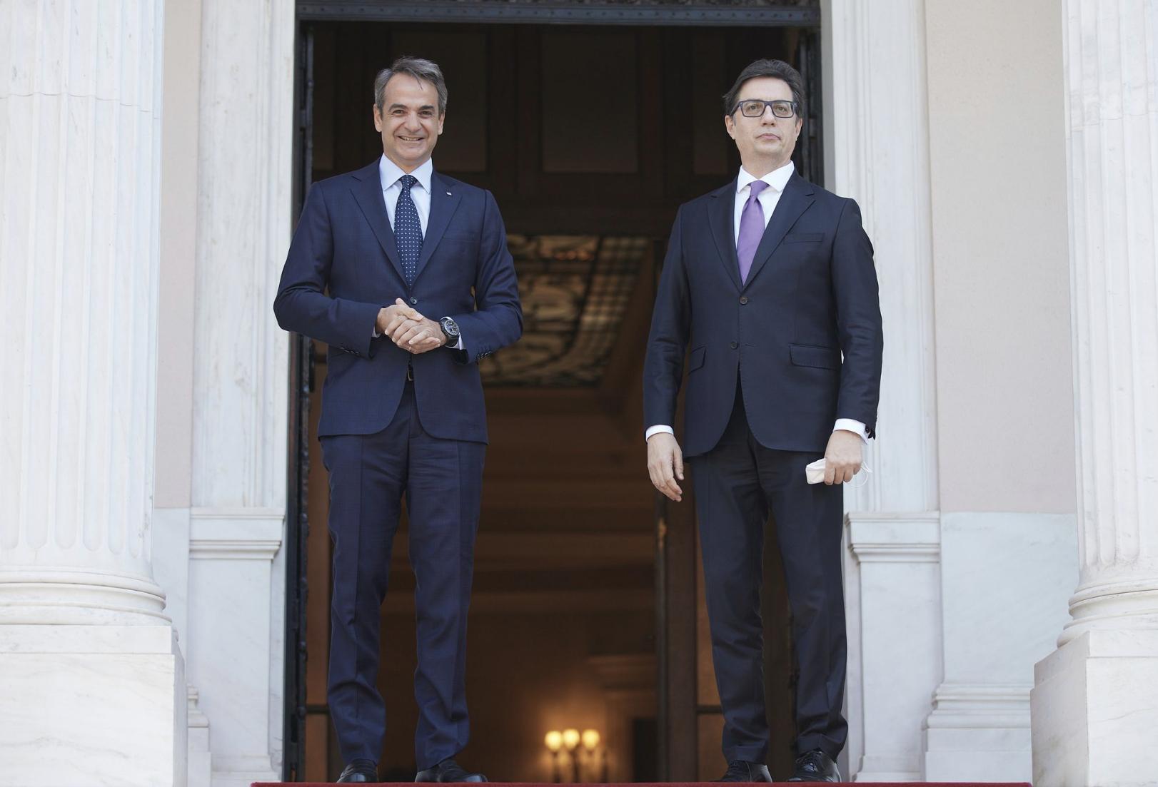 Greece: Kyriakos Mitsotakis met with the President of North Macedonia