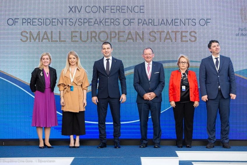 Montenegro Parliament hosted the XIV Conference of Speakers of Parliaments of Small European States