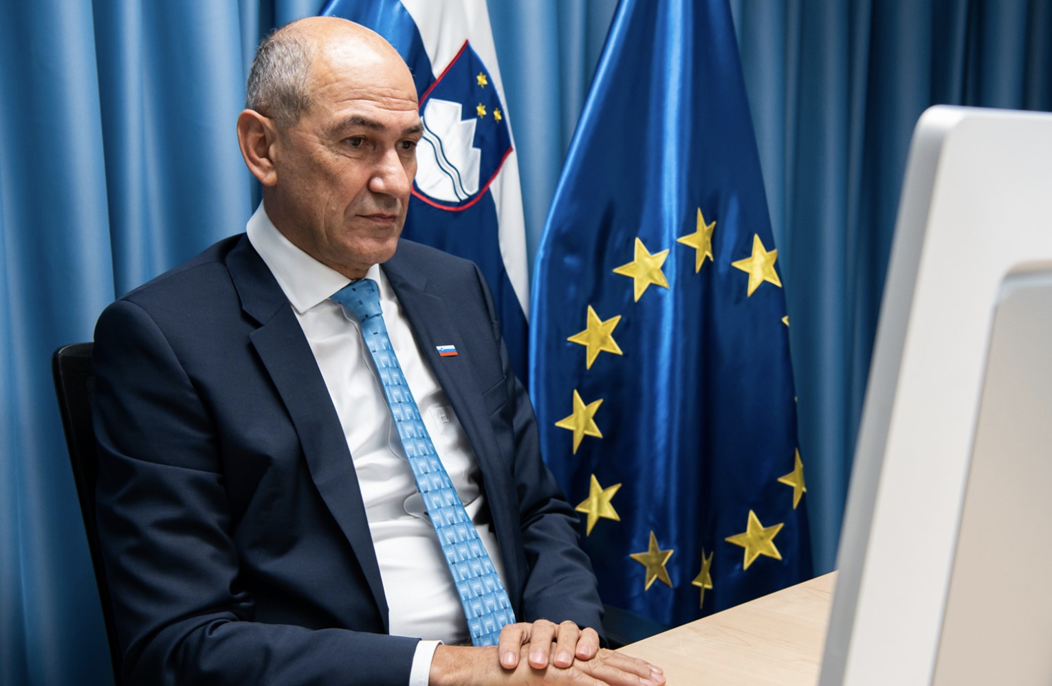Janša attends plenary session of the European Committee of the Regions