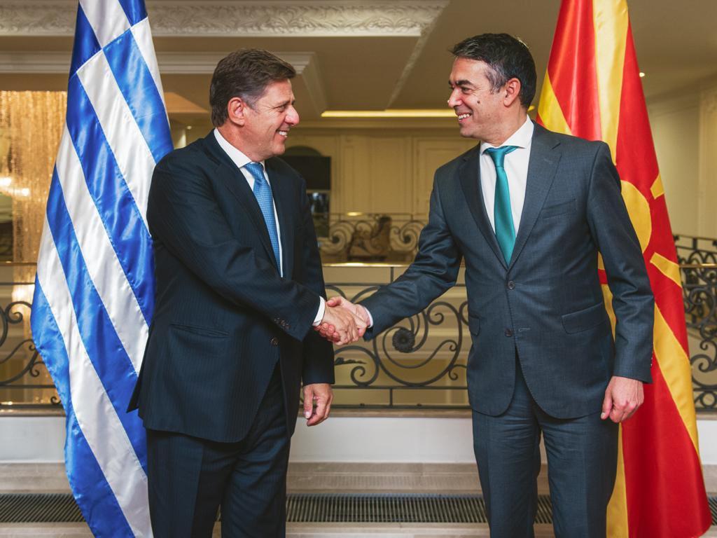 Varvitsiotis met with Dimitrov and Osmani in North Macedonia