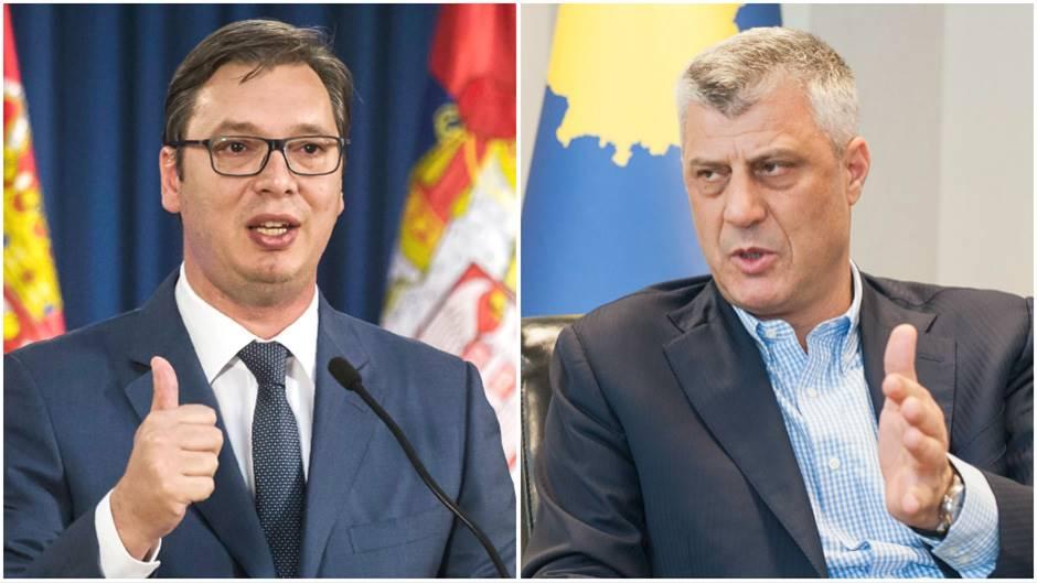 Thaçi e Vucic marrin pjesë në Forumin e Bratisllavës