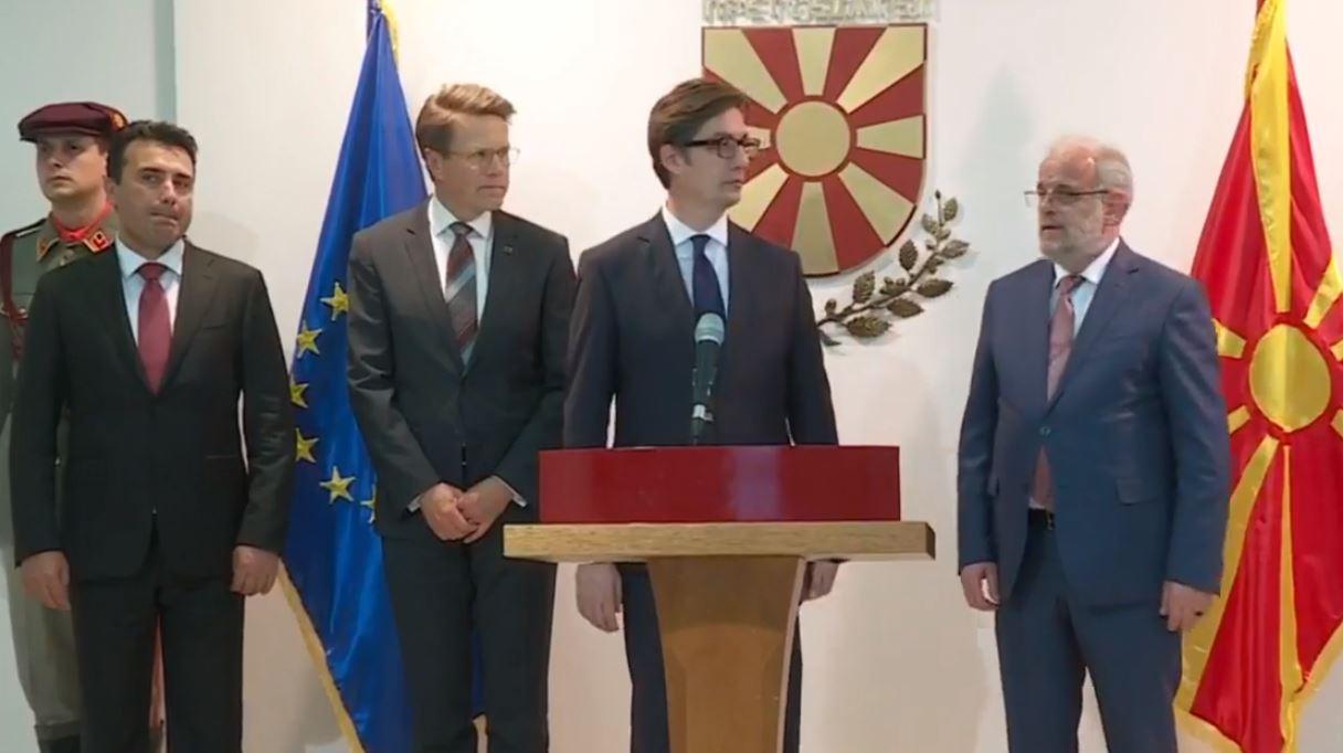Kreu shtetëror në Shkup pas pranimit të Raportit të progresit nga BE