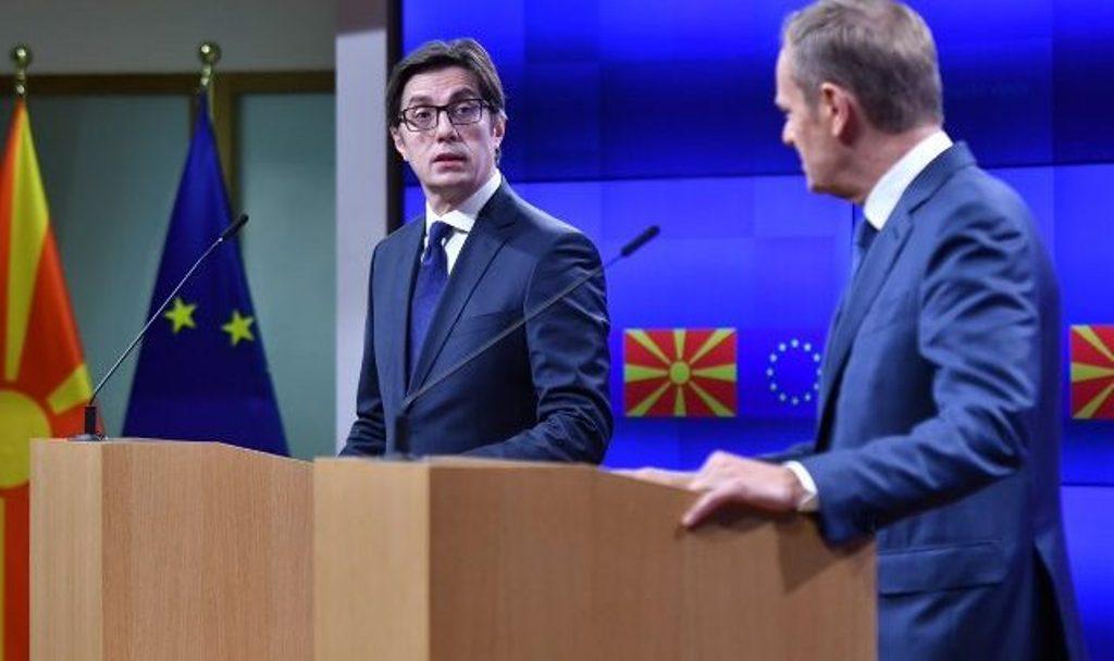 Pendarovski nga Brukseli: Presim datën për bisedime, e kemi merituar