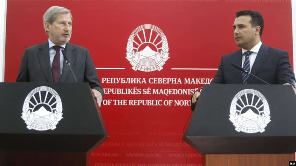 Hahn porosi nga Shkupi: Ligji për Prokurorinë kusht për të fituar datën në tetor