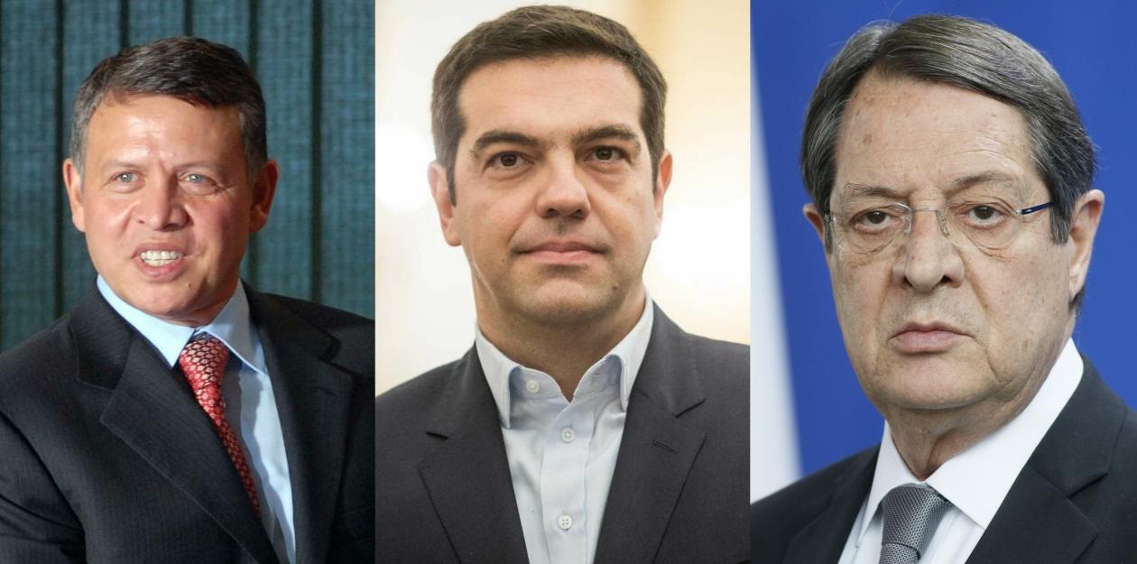 Στην Λευκωσία ο Αλέξης Τσίπρας για τη Σύνοδο Κορυφής Ελλάδας Κύπρου Ιορδανίας.