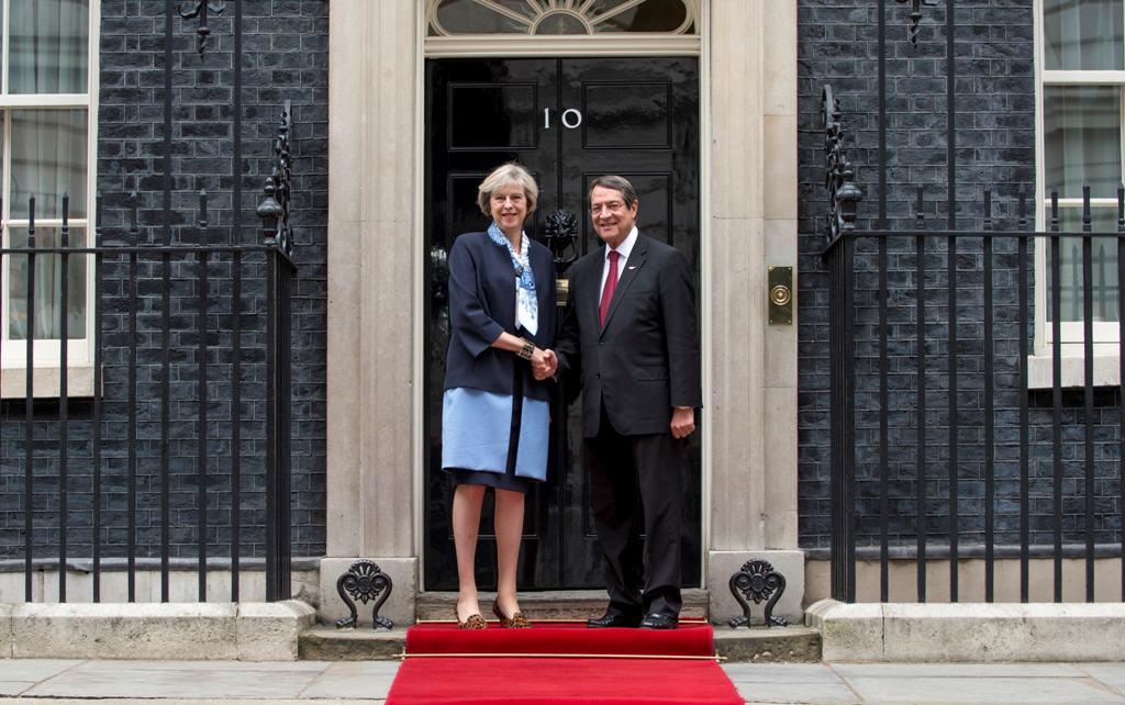 Ο Πρόεδρος Αναστασιάδης συναντήθηκε με την Πρωθυπουργό της Βρετανίας