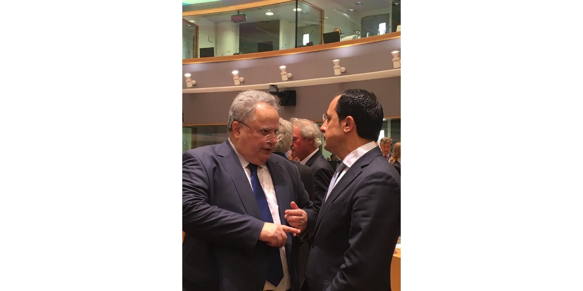 Ο Νίκος Χριστοδουλίδης συμμετείχε στο Συμβούλιο Εξωτερικών Υποθέσεων της ΕΕ