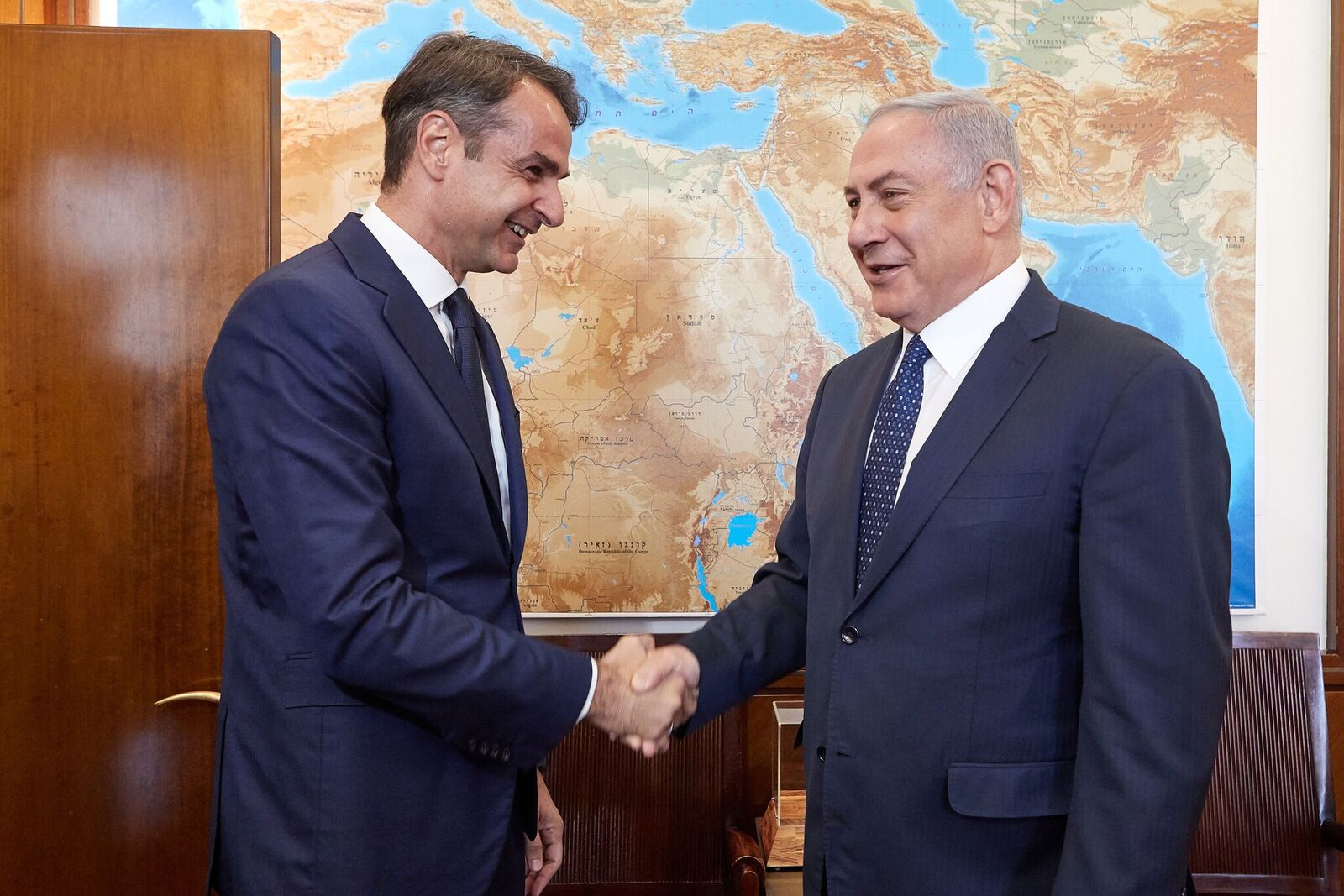 Με τον Netanyahu συναντήθηκε ο Μητσοτάκης στην Ιερουσαλήμ.