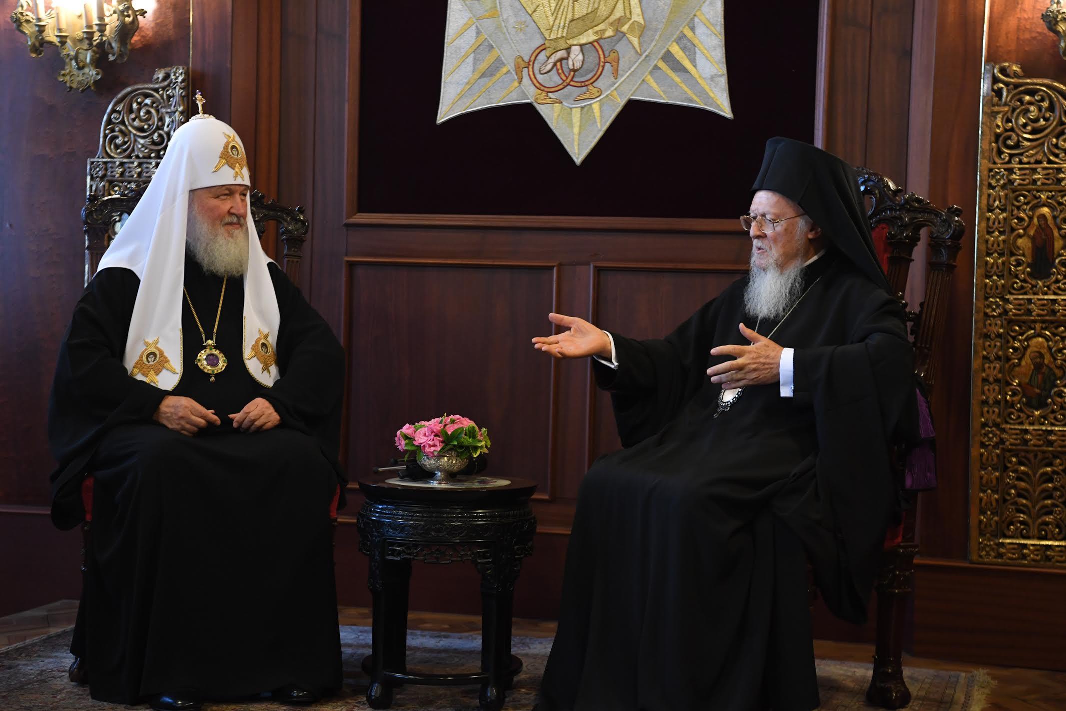 Επίσκεψη του Πατριάρχη Μόσχας στον Οικουμενικό Πατριάρχη Βαρθολομαίο
