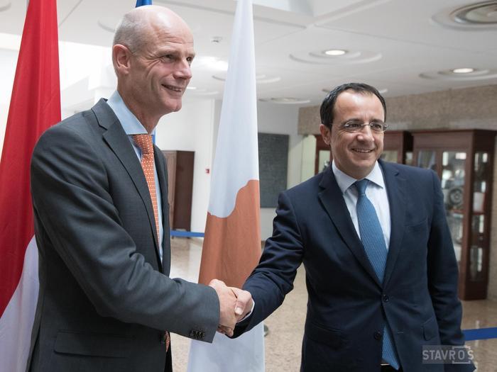 Υδρογονάνθρακες, μεταναστευτικό και Brexit στο επίκεντρο της συνάντησης του Ν. Χριστοδουλίδη με τον Υπουργό Εξωτερικών της Ολλανδίας