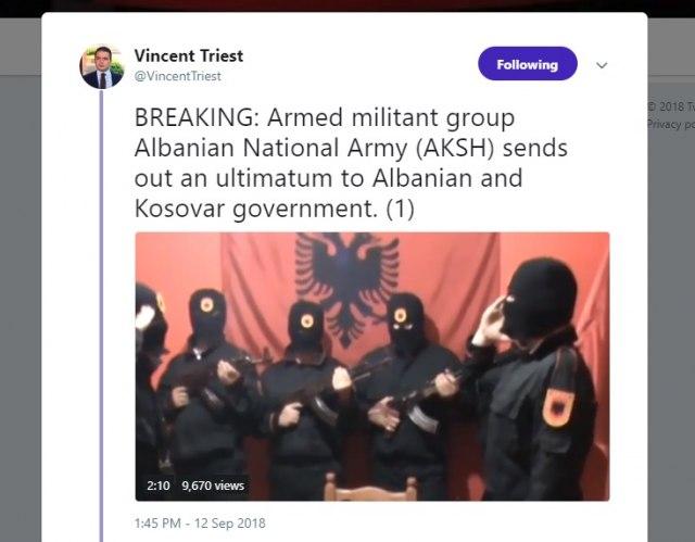 Ομάδα ένοπλων Αλβανών προειδοποιεί Τίρανα και Πρίστινα να μην παζαρεύουν εδάφη – Απειλές και κατά του αρχιεπισκόπου Αναστάσιου