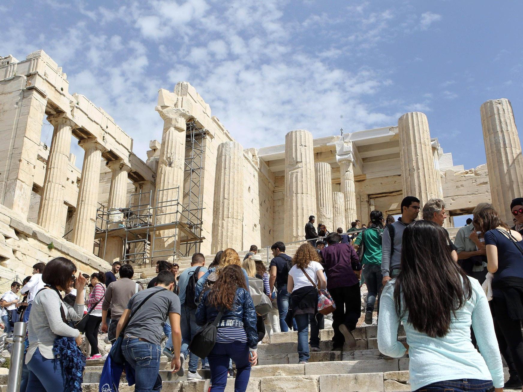 Αύξηση 14,6% των τουριστών στην Ελλάδα