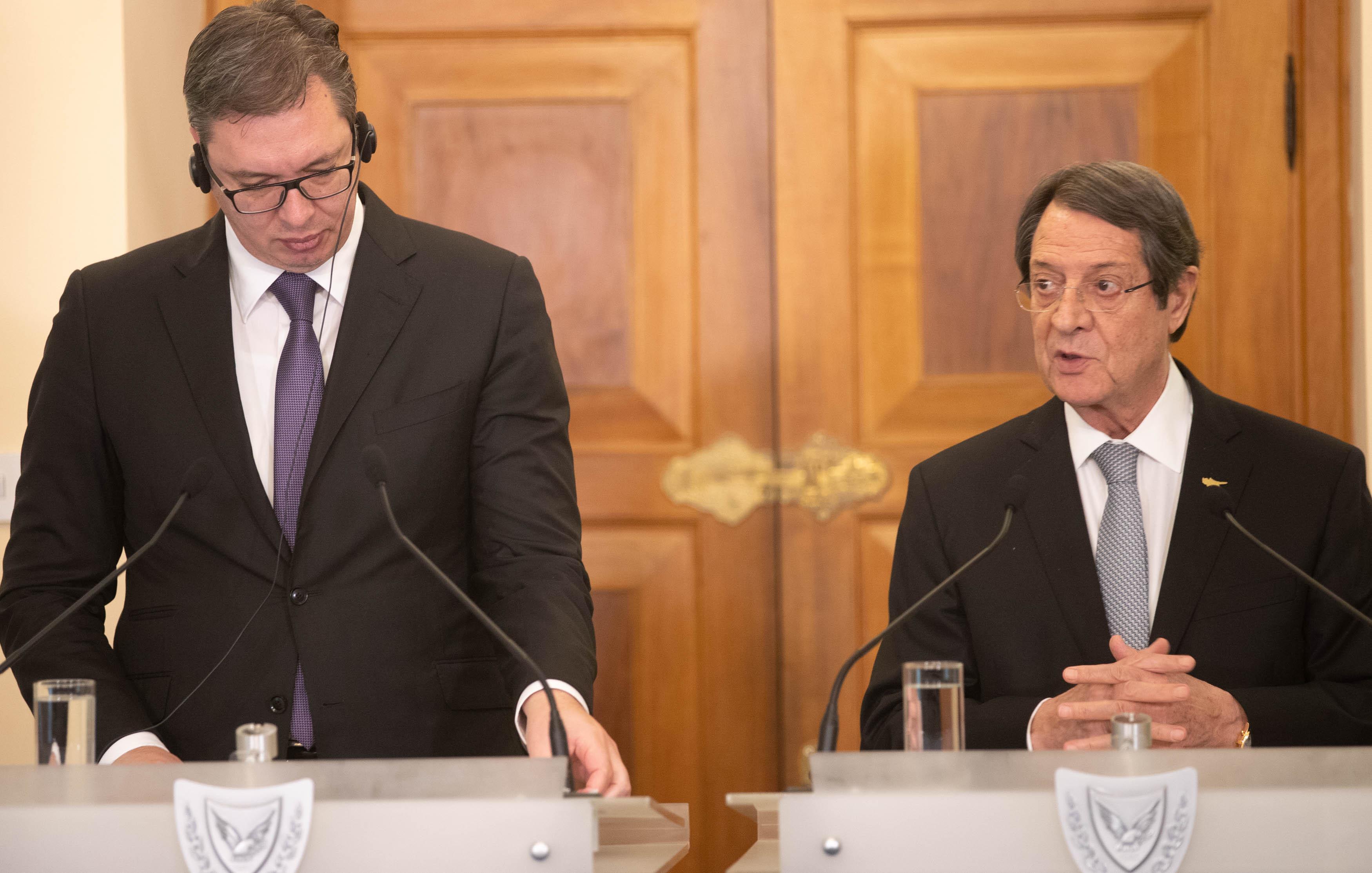 Ενίσχυση της συνεργασίας Κύπρου Σερβίας αποφάσισαν Αναστασιάδης Vucic