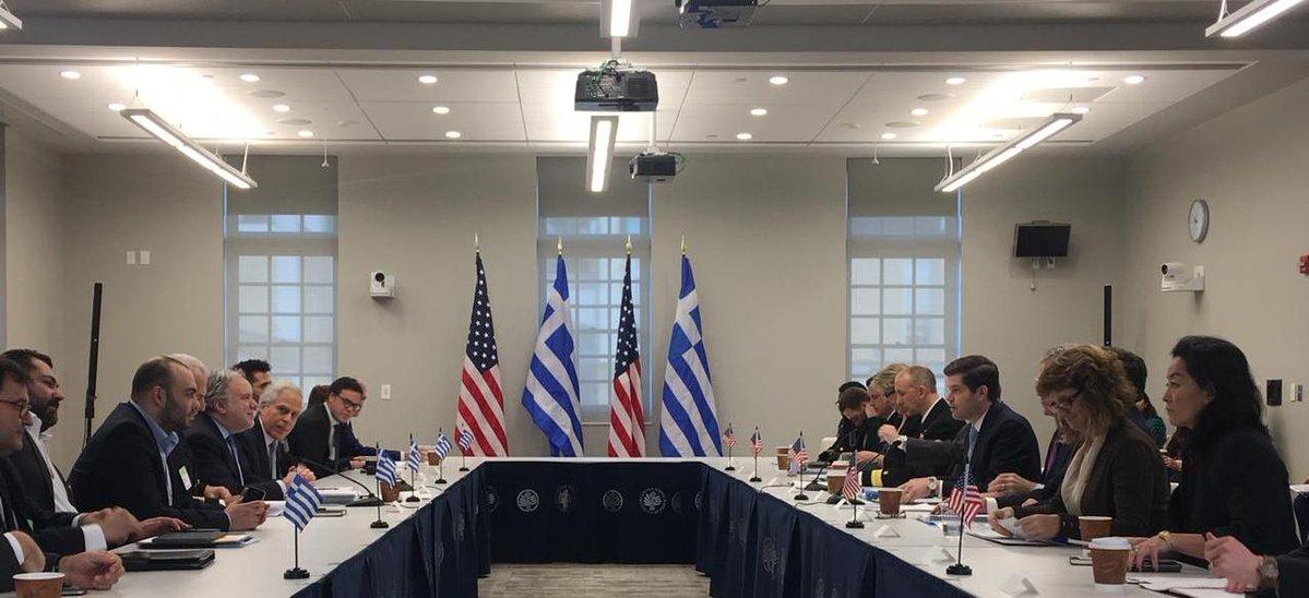 Σε θετικό κλίμα η έναρξη του Στρατηγικού διαλόγου Ελλάδας-ΗΠΑ