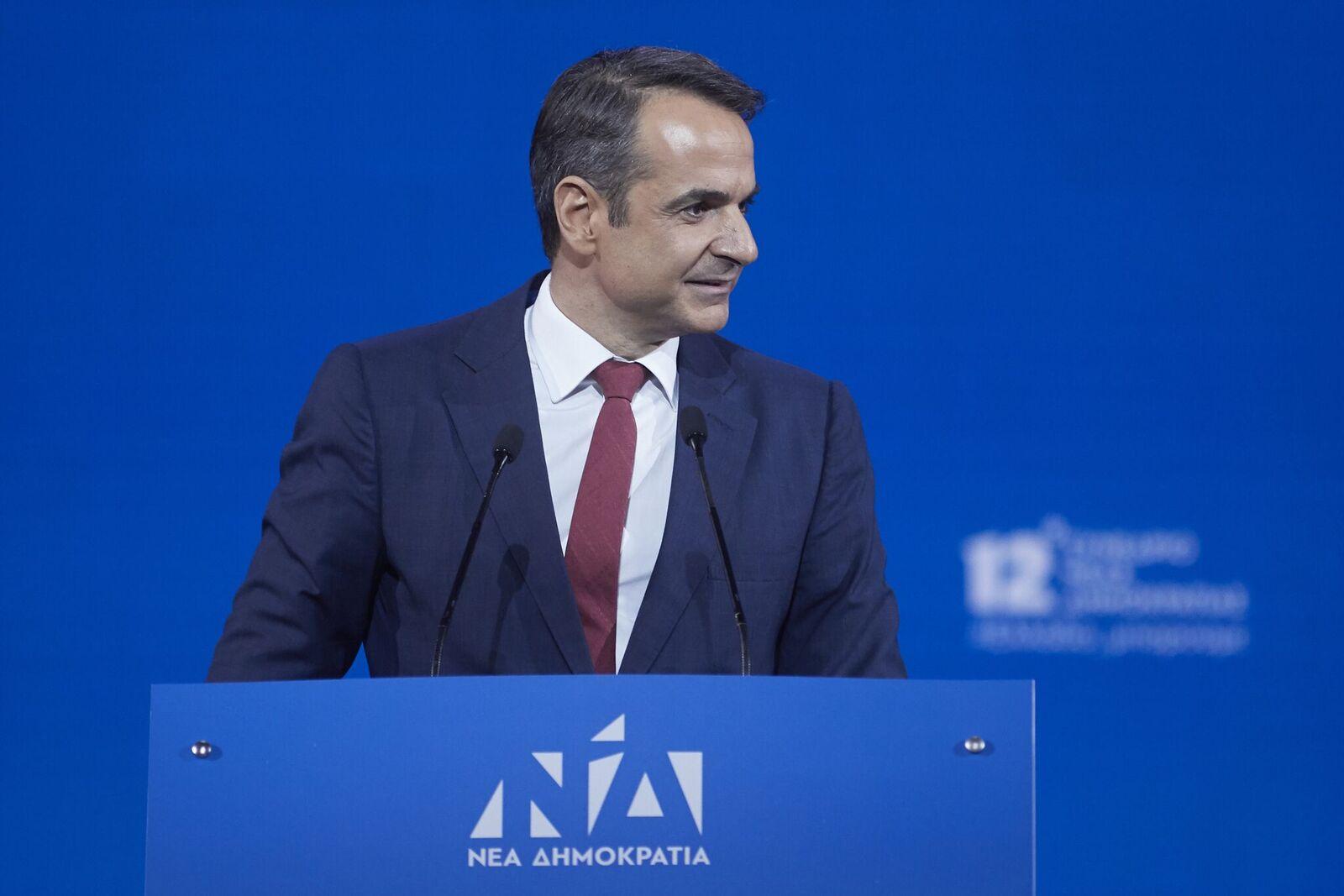 Επίθεση Μητσοτάκη στην κυβέρνηση Τσίπρα από το βήμα του 12ου Συνεδρίου της ΝΔ.