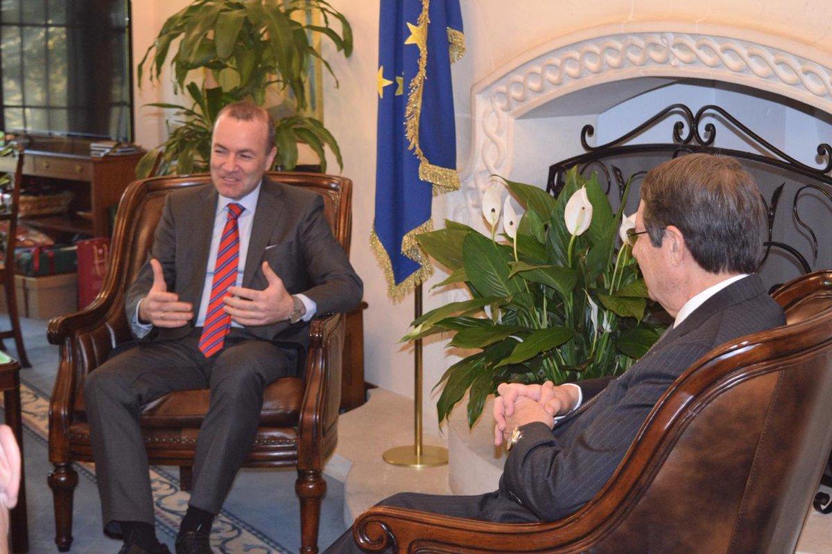 Weber: Το Κυπριακό είναι Ευρωπαϊκό πρόβλημα.