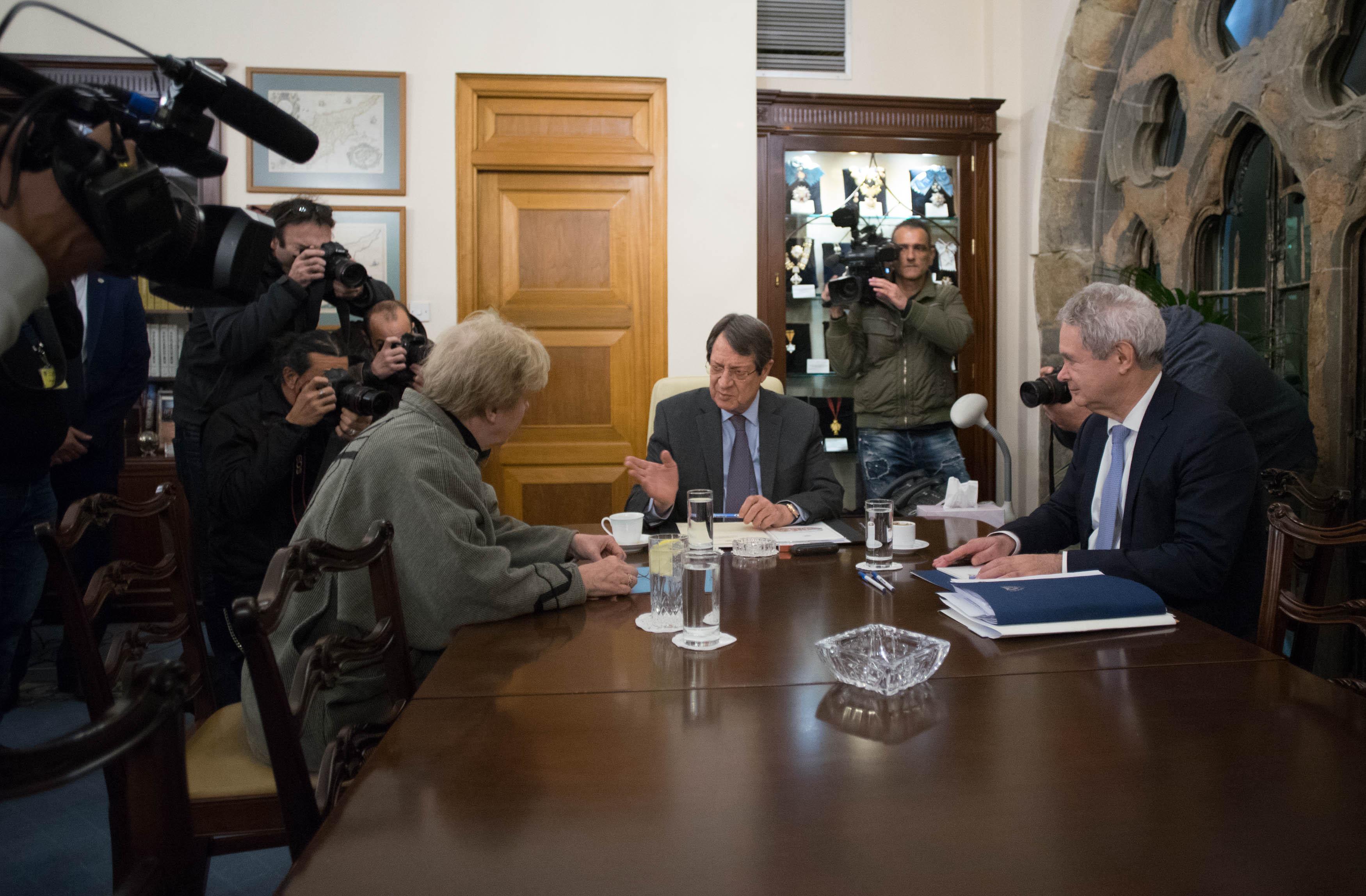 Συναντήθηκαν Αναστασιάδης Lute στο Προεδρικό Μέγαρο