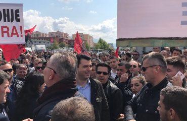 Την αντίδραση του αρχηγού της αντιπολίτευσης στην Αλβανία προκάλεσε η σύλληψη πολλών διαδηλωτών από την αστυνομία