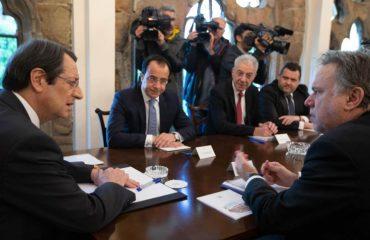 Αναστασιάδης: Απόλυτος συντονισμός Ελλάδας-Κύπρου