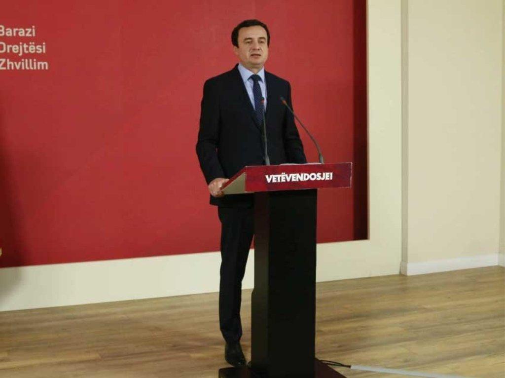 Είναι αναγκαίο να διεξαχθούν νέες εκλογές, δηλώνει ο Kurti, αρχηγός της αντιπολίτευσης του Κοσσυφοπεδίου