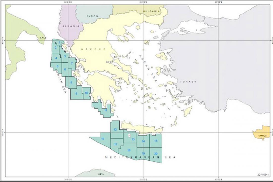 Τα 11 οικόπεδα στην Ελλάδα που θα δοθούν για έρευνες υδρογονανθράκων