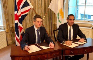 Αναβάθμιση της συνεργασίας σε θέματα άμυνας και ασφάλειας μεταξύ Κύπρου και Ηνωμένου Βασιλείου