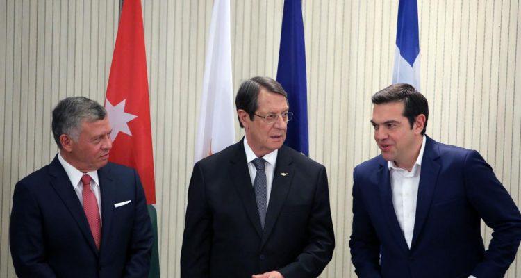 Στο Αμμάν η 2η τριμερής Σύνοδος Κορυφής Ελλάδας Κύπρου Ιορδανίας