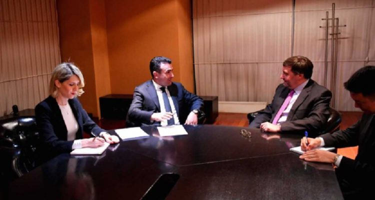 Ο Zaev συναντήθηκε με τον υφυπουργό Εξωτερικών των ΗΠΑ για την Ευρώπη και την Ευρασία