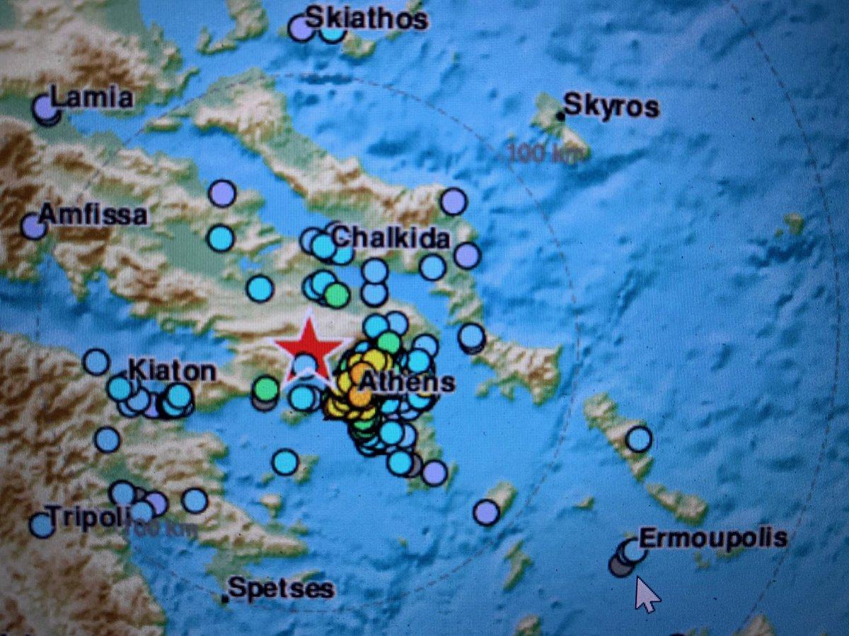 Ισχυρή σεισμική δόνηση 5,1 στην Αθήνα