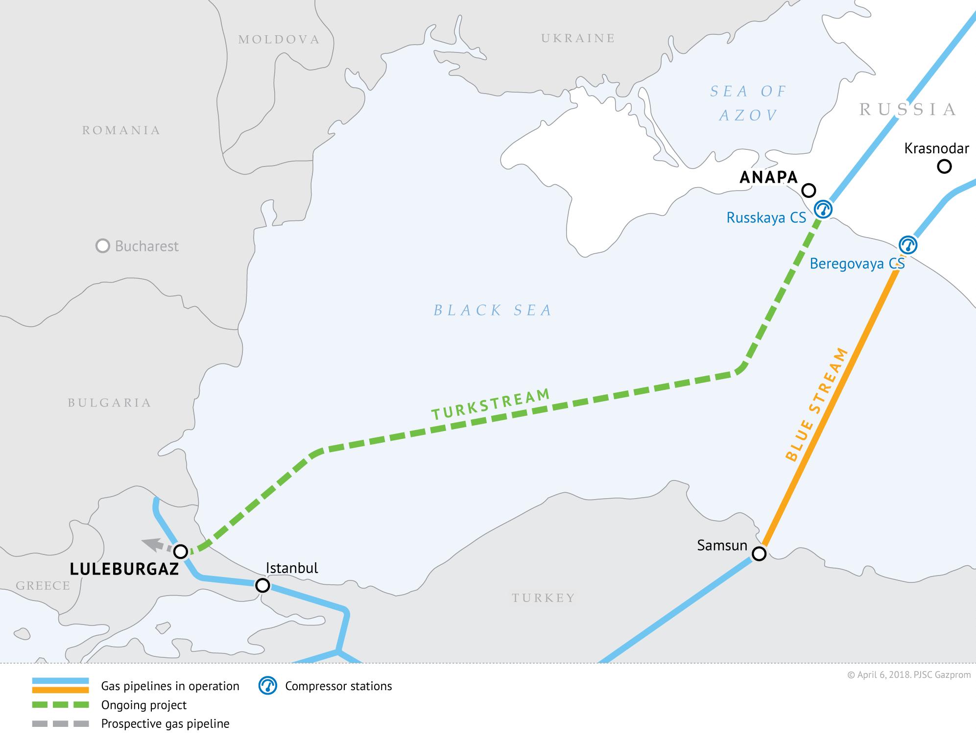Είναι οριστικό: Μέσω Βουλγαρίας ο Turkish Stream στα Βαλκάνια