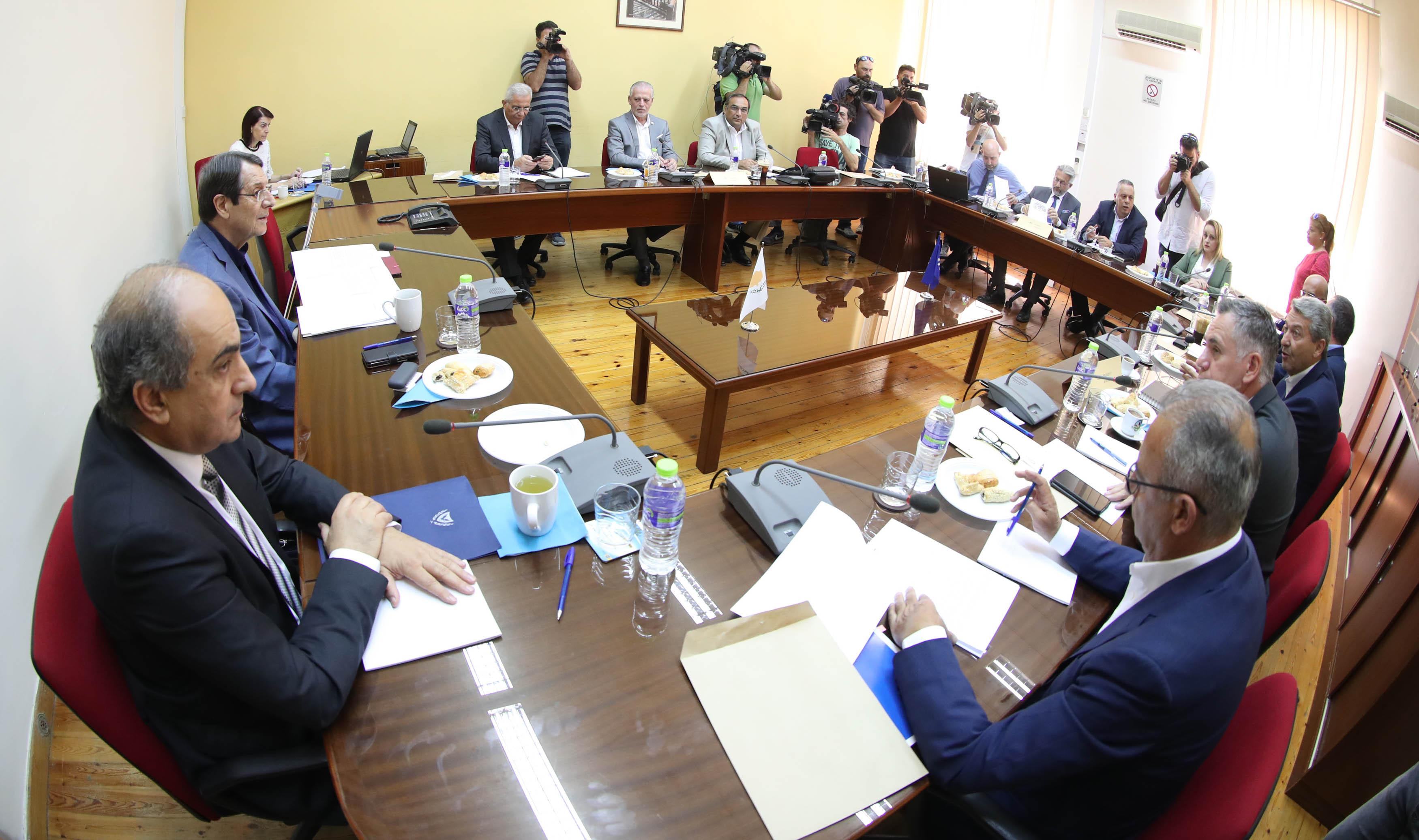 Σύσκεψη με τους πολιτικούς αρχηγούς θα έχει σήμερα ο Αναστασιάδης ενόψει 9ης Αυγούστου