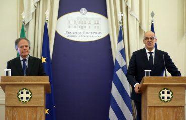Δένδιας και Milanesi επιβεβαίωσαν τις άριστες σχέσεις Ελλάδας Ιταλίας