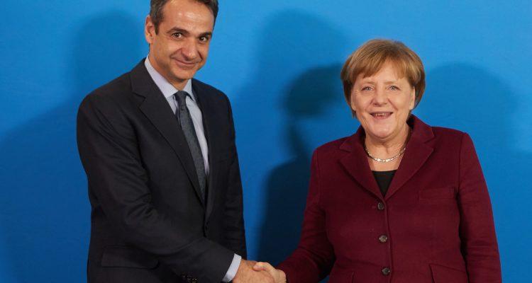 Στο Βερολίνο ο Μητσοτάκης. Συναντήσεις με Merkel, Scholz