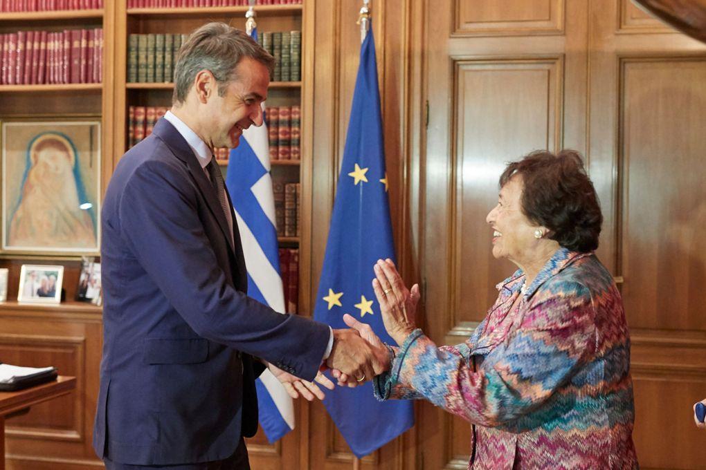 Την εμβάθυνση της συνεργασίας Ελλάδας ΗΠΑ συζήτησαν Μητσοτάκης Lowey