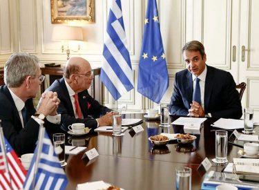 Επενδύσεις και συνεργασία συζήτησαν Μητσοτάκης Ross