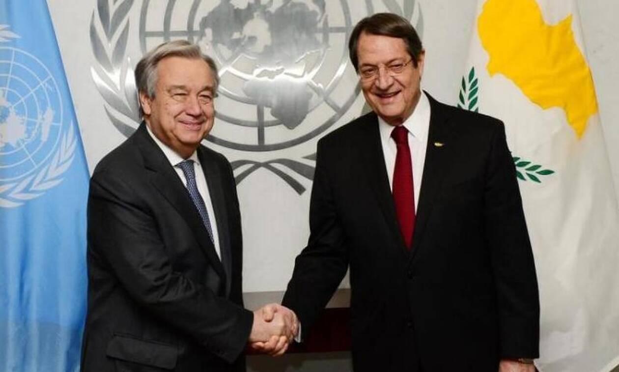 Ο Πρόεδρος της Κυπριακής Δημοκρατίας συναντήθηκε με τον ΓΓ των ΗΕ, στη Νέα Υόρκη