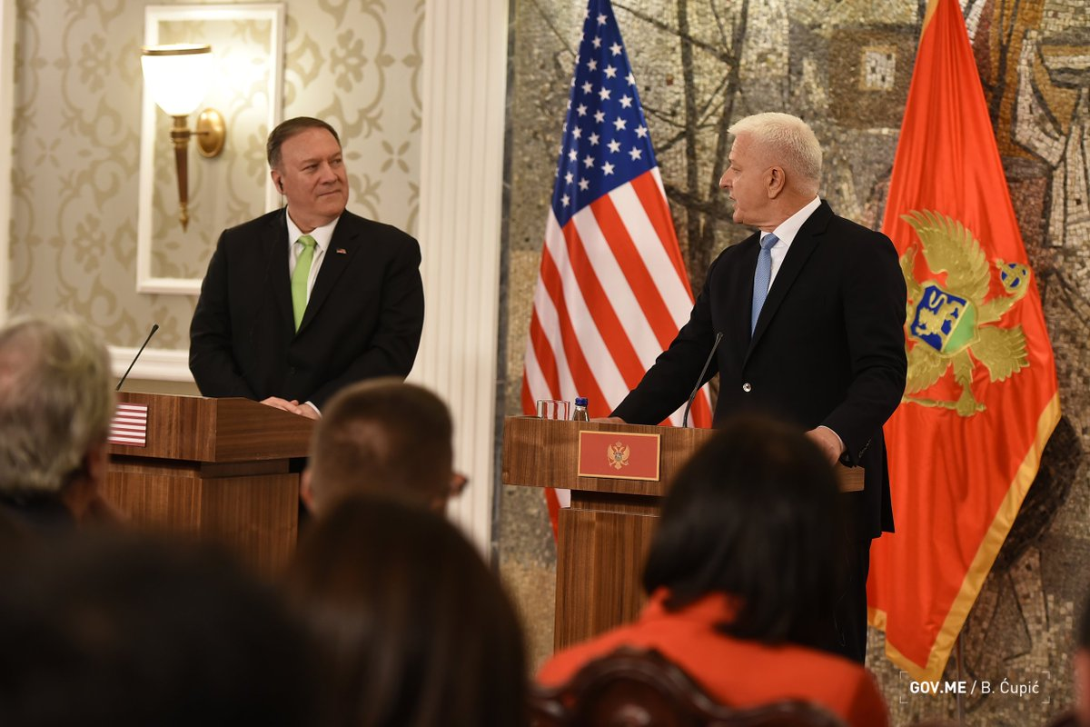 Ο Pompeo γίνεται o πρώτος υπουργός Εξωτερικών των ΗΠΑ που επισκέπτεται το Μαυροβούνιο