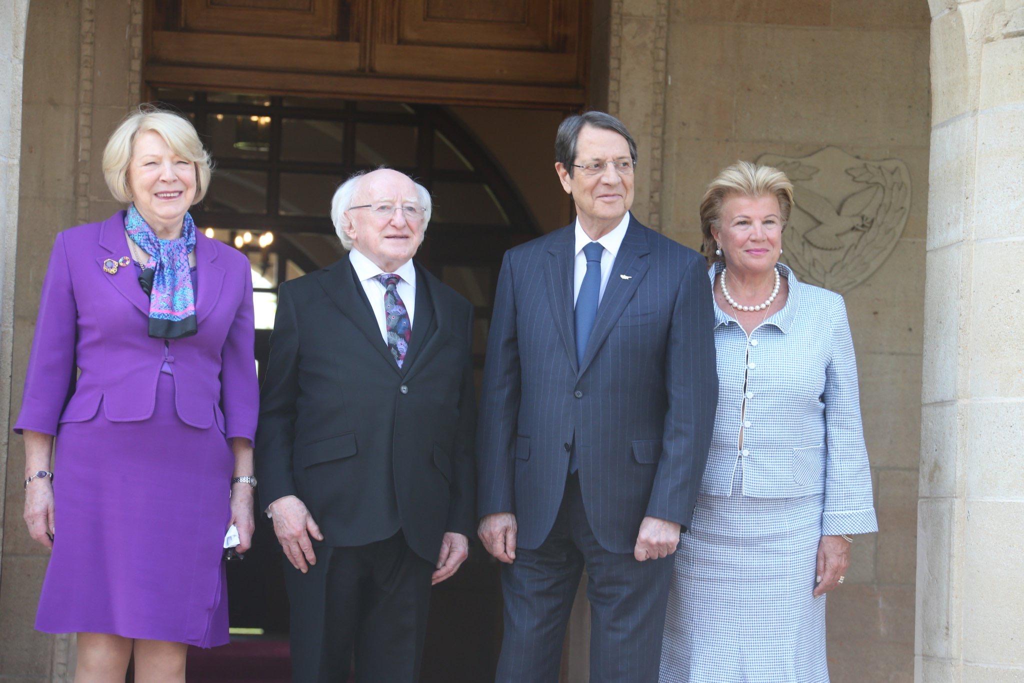 Συνάντηση Νίκου Αναστασιάδη με τον Ιρλανδό Πρόεδρο Michael Higgins